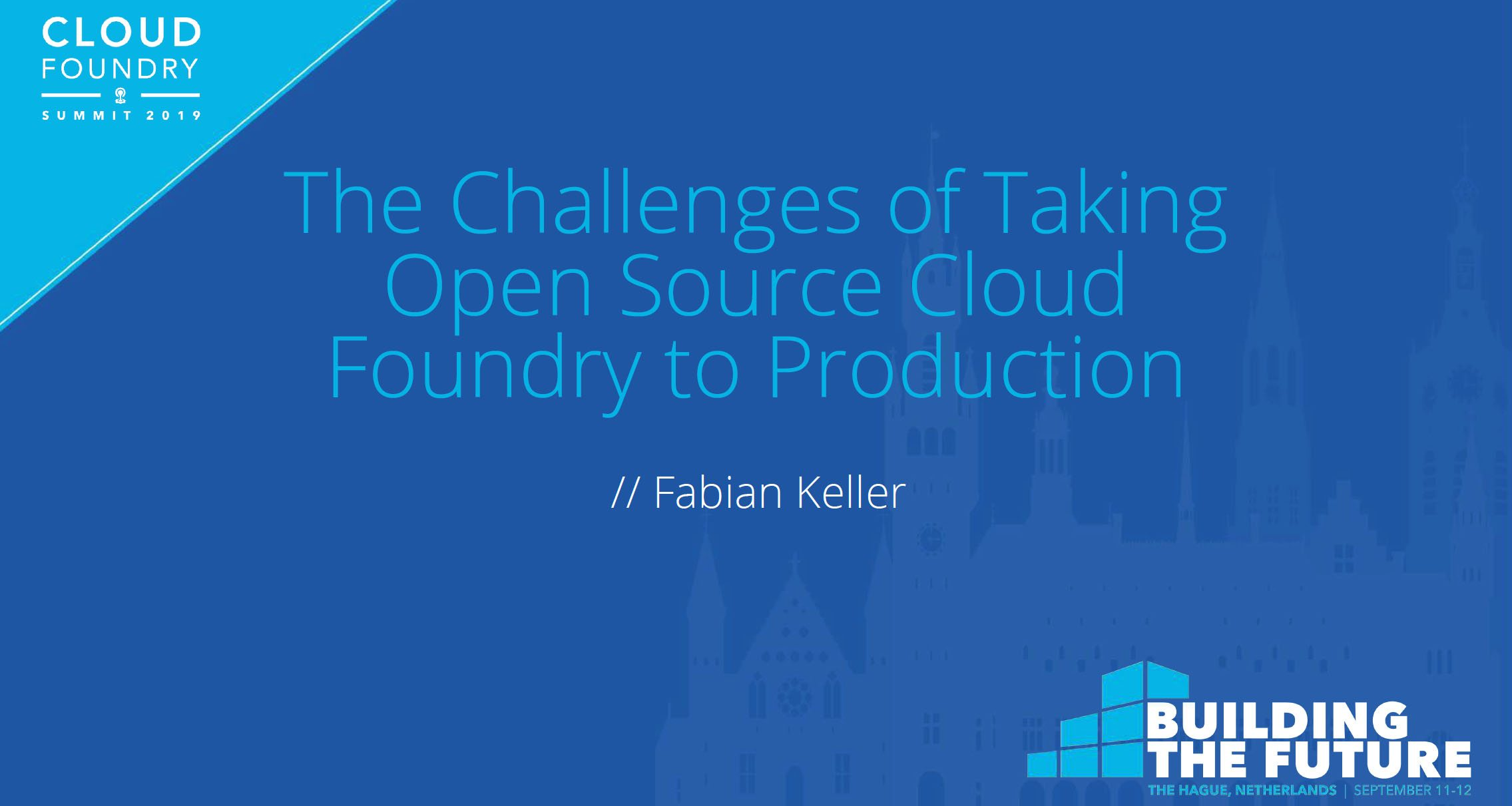 The Challenges of Taking Open Source Cloud Foundry to Production
